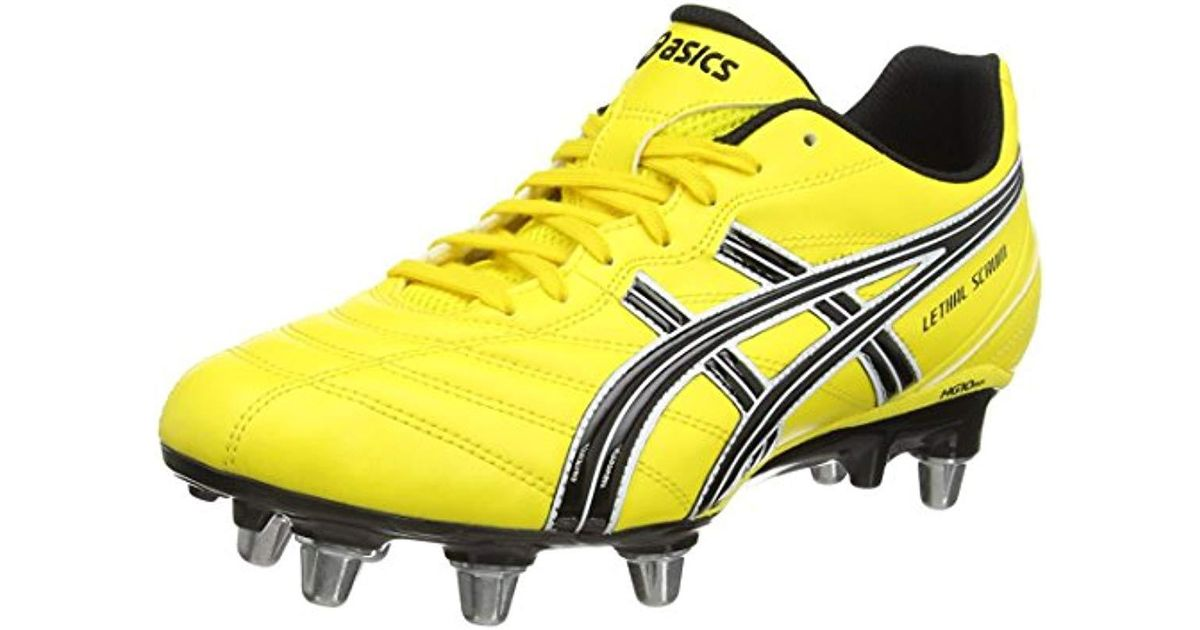 quality design wide selection of colors fashionable and attractive package Asics Lethal Scrum Rugby Boots in Yellow for Men - Lyst