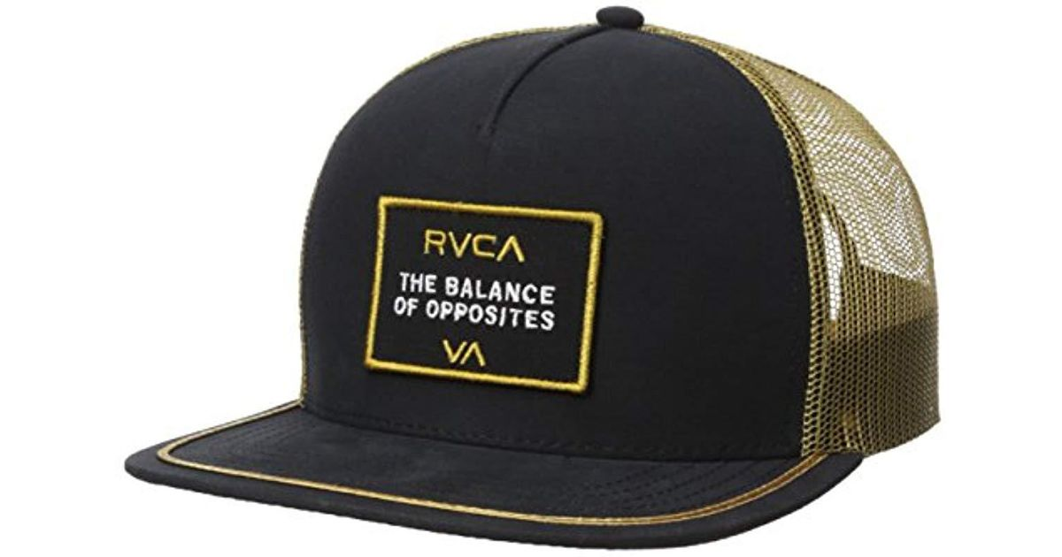 05829da492 Lyst - RVCA Billboard Trucker Hat in Black for Men