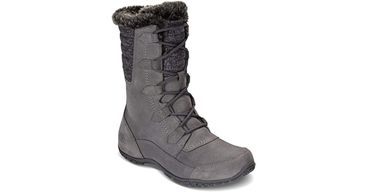 The North Face Nuptse Purna Ii Snow Boots in Gray - Lyst 559b020fc