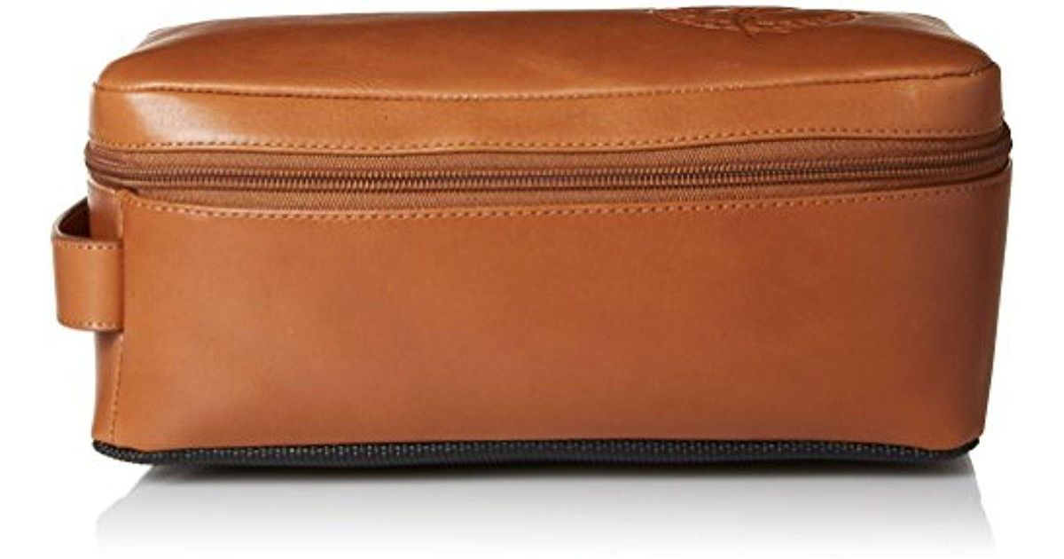 Lyst - Tommy Bahama 100% Burnished Leather Travel Kit Toiletry Bag in Brown 5e190c92a2b9e