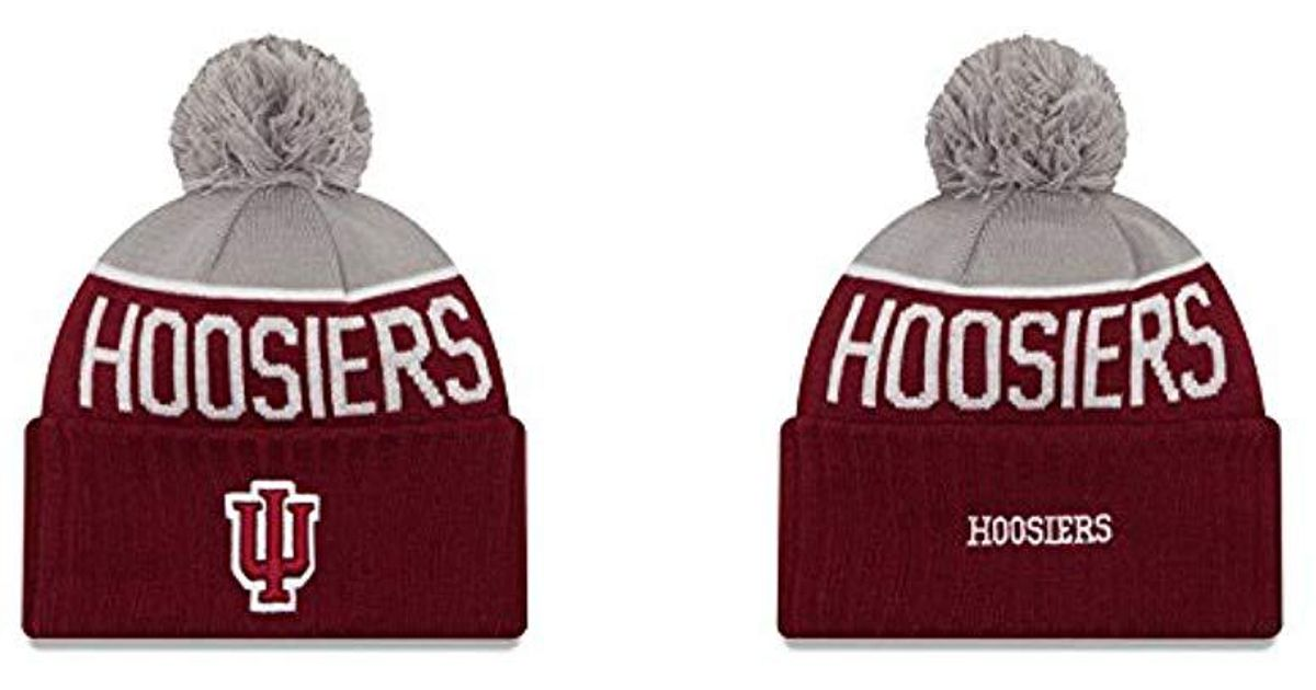 watch 7f67d 8f59b ... uk lyst ktz indiana hoosiers adult sport knit pom beanie team color in  red for men