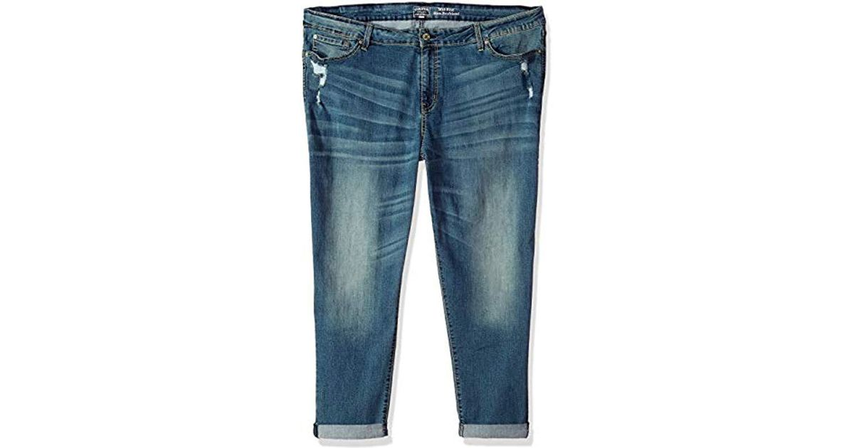 c329b30f44a Signature by Levi Strauss & Co. Gold Label Plus Size Mid Rise Slim  Boyfriend Jeans in Blue - Save 45% - Lyst