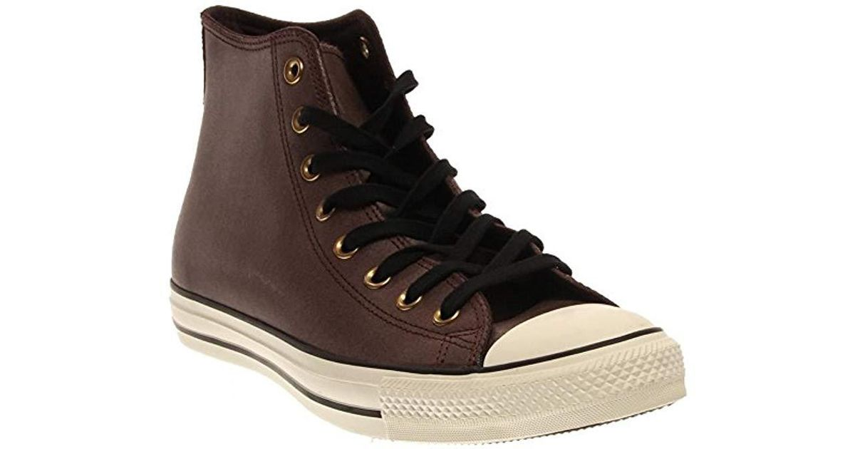 7e5aa7adcb47 Lyst - Converse Chuck Taylor All Star Leather High Top Sneaker in Brown for  Men