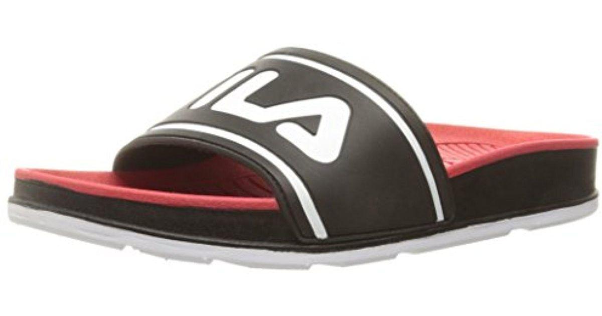 1853889d4f19 Lyst - Fila Sleek Slide Athletic Sandal in Red