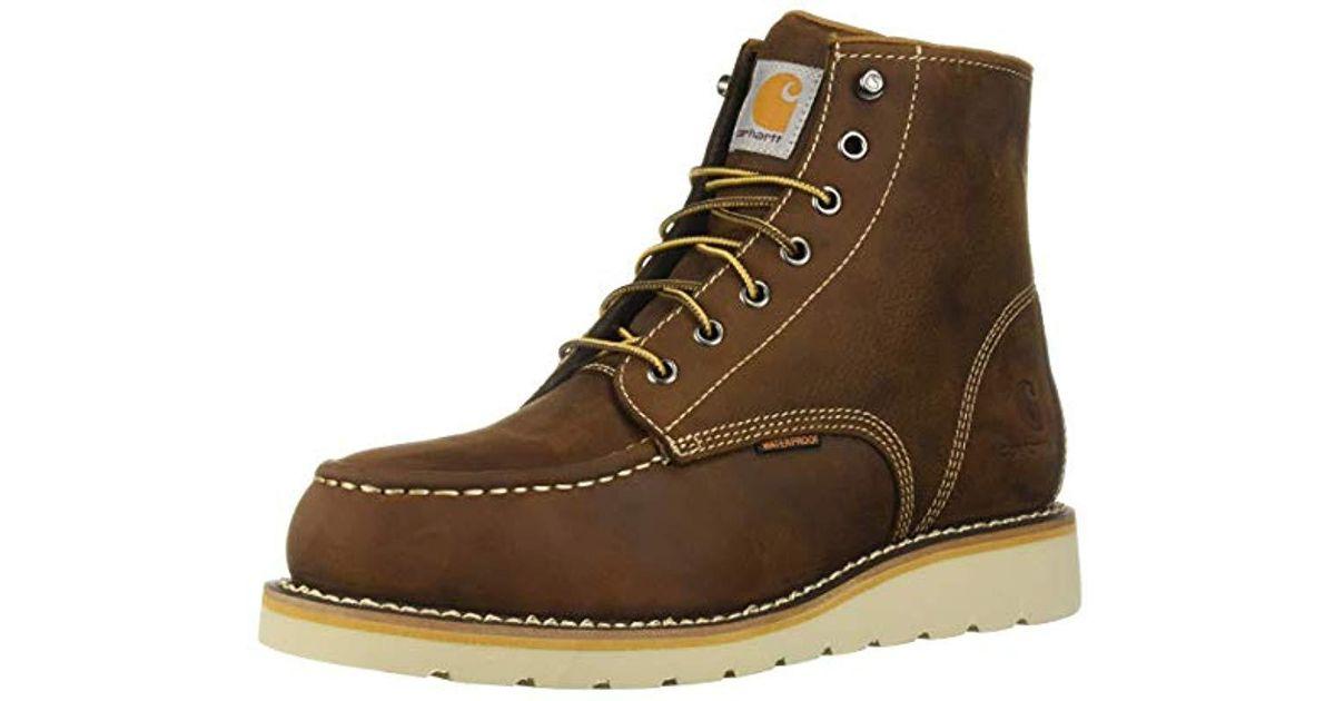 6c7ce547ff7 Carhartt Brown 6 Inch Waterproof Wedge Boot Steel Toe Industrial