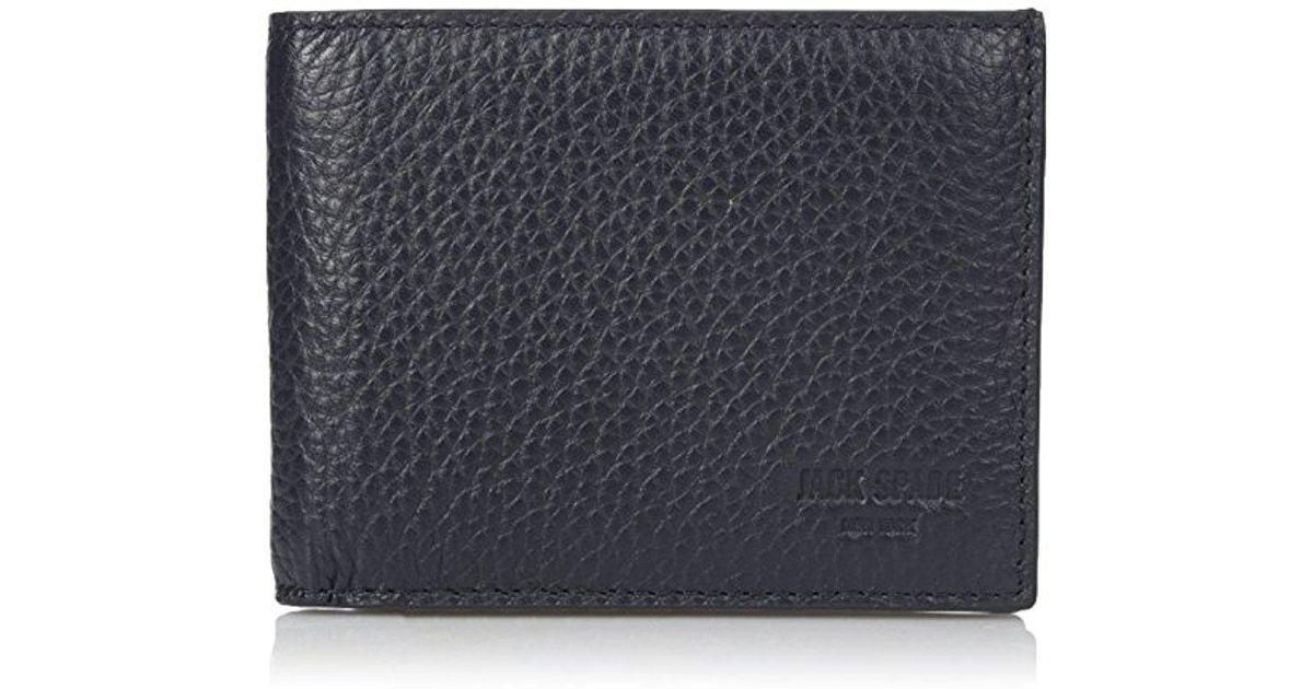 0e4d39eddb1cc Lyst - Jack Spade Pebble Leather Slim Billfold Wallet in Blue for Men