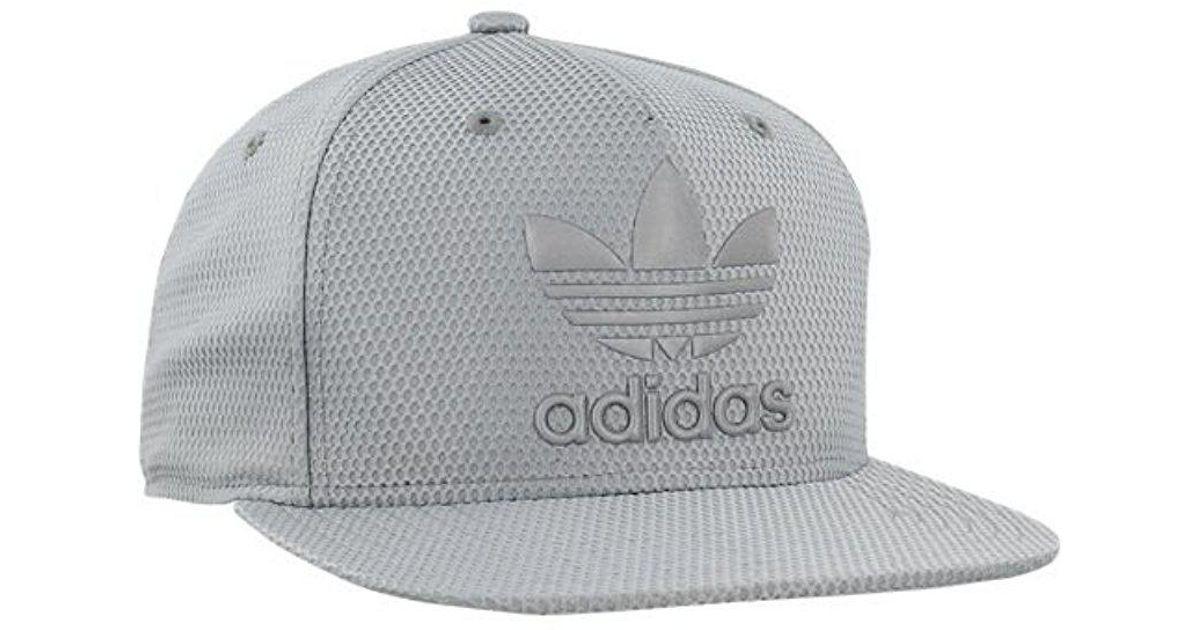 16744179 adidas Originals Snapback Flatbrim Cap in Gray for Men - Lyst