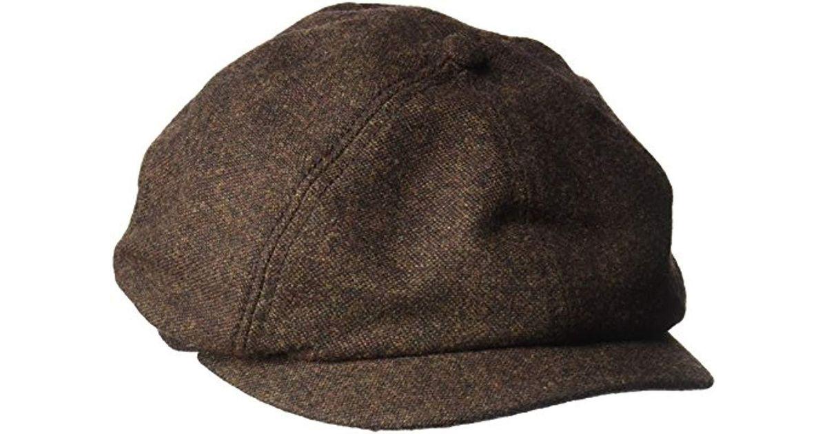 7819e71a85d Lyst - Goorin Bros Peter Baker Wool Blend Ivy Newsboy Hat in Brown for Men