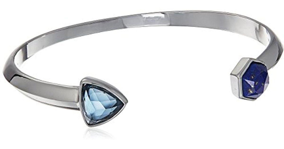 Lyst Vera Bradley Geo Facets Cuff Bracelet In Metallic Save 72 91666666666667