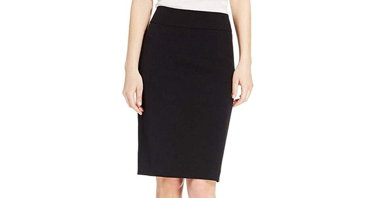 1d6784f8ee Kasper Stretch Crepe Slim Skirt in Black - Save 75% - Lyst