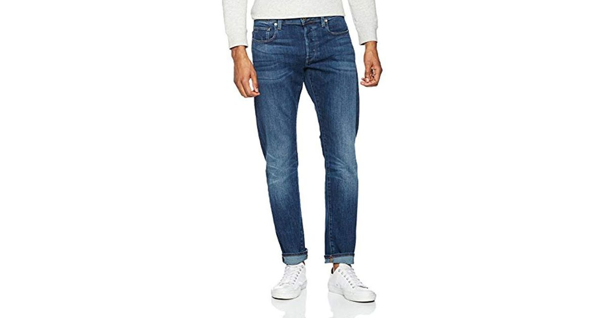 4bea0275097 G-Star RAW 3301 Amazon Exclusive Style Slim Jeans in Blue for Men - Lyst