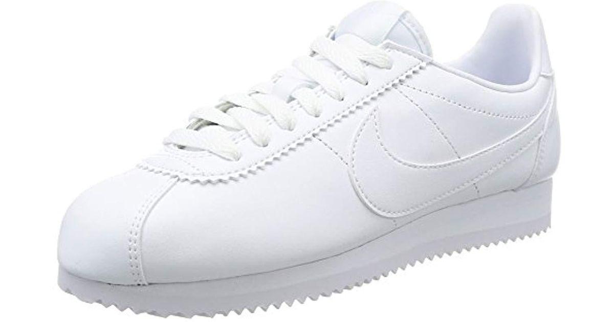 gorące nowe produkty Najnowsza uznane marki Nike 's Classic Cortez Leather Low-top Sneakers in White - Lyst