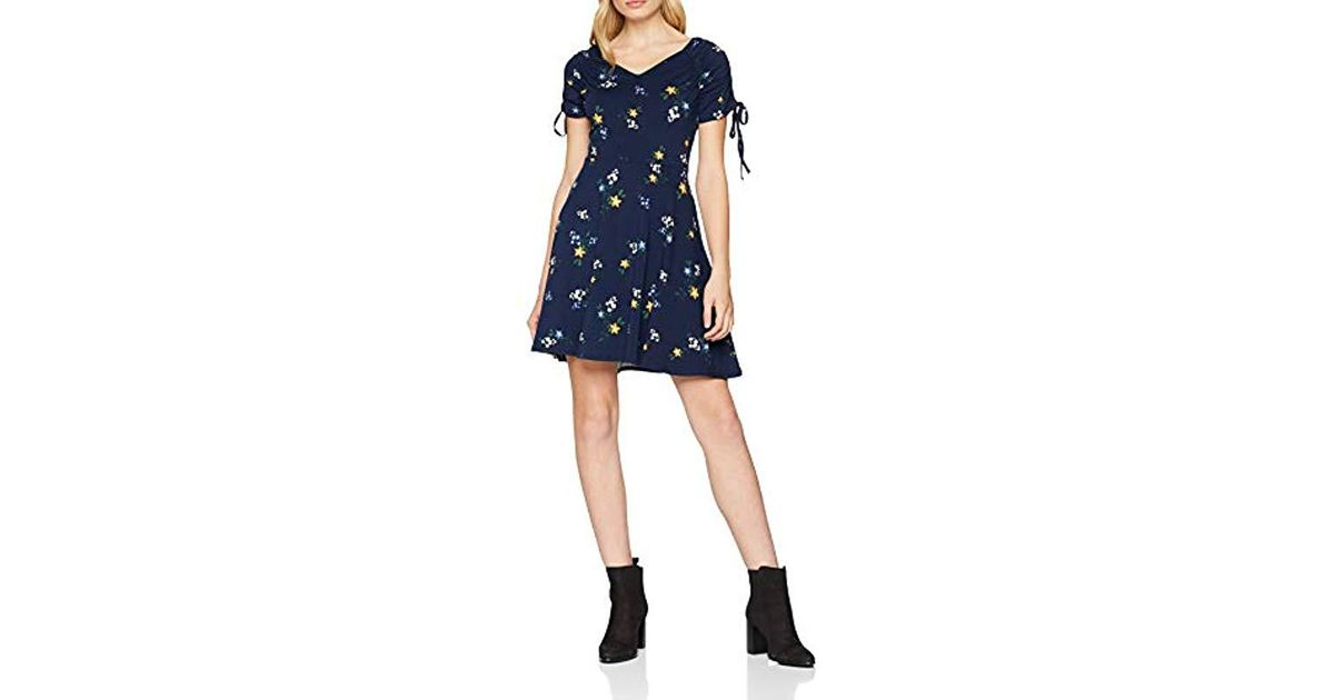Dorothy Perkins - Blue Navy Floral Fit And Flare Dress - Lyst