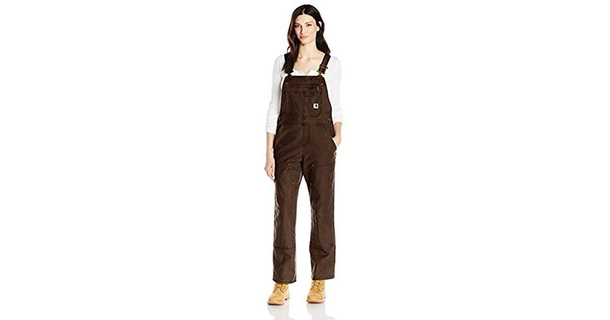 735b082702d Carhartt Crawford Double Front Bib Overalls in Brown - Lyst