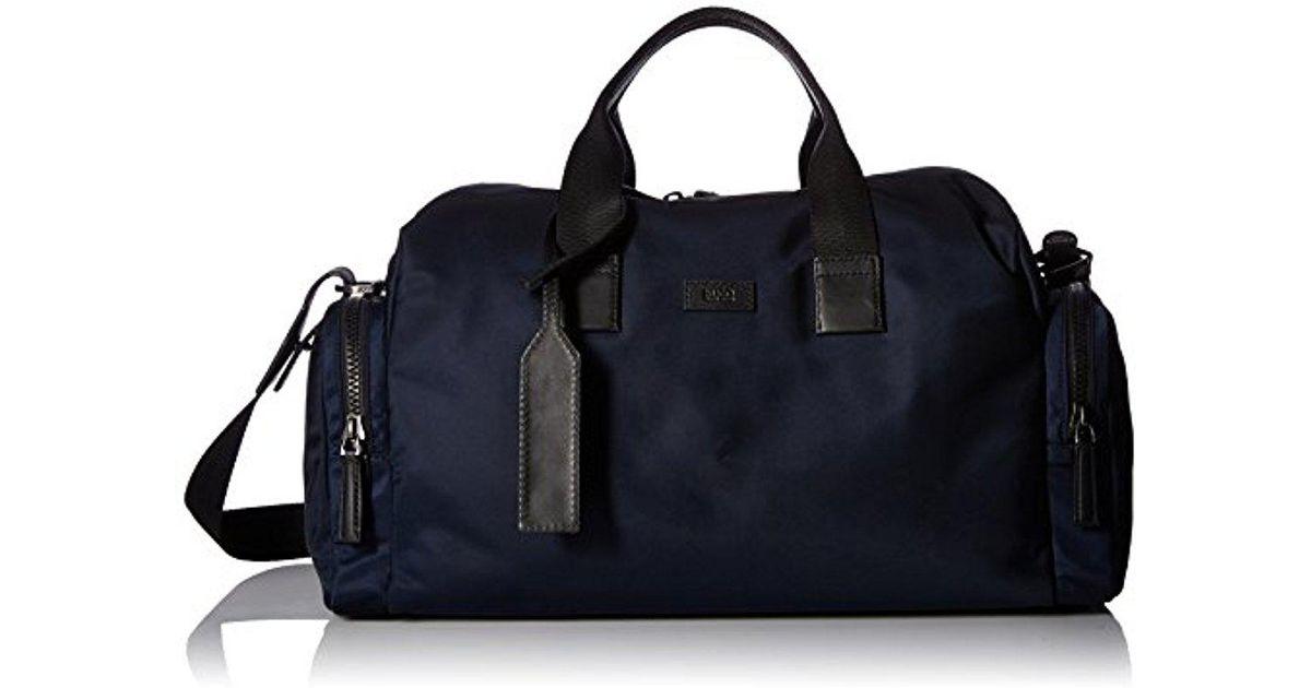 Boss Blue Hugo By Capital Nylon Weekender Bag For Men
