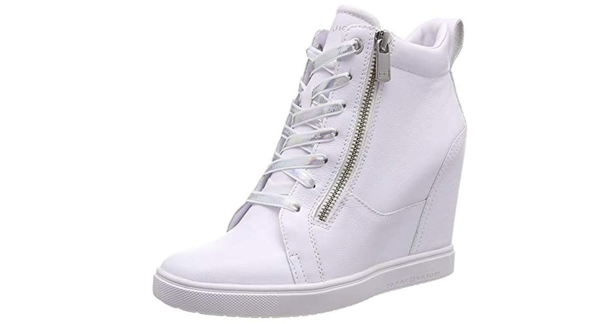 Tommy Hilfiger White Iridescent Dress Sneaker, Sneakers Basses Femme Lyst