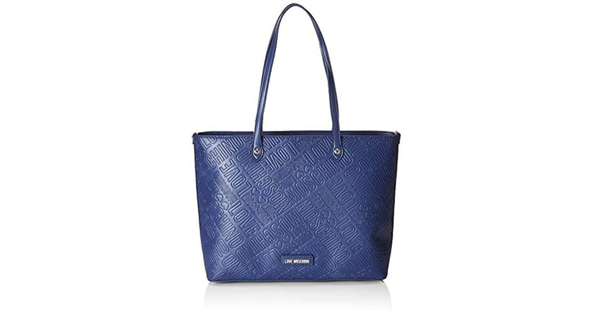Love Moschino Borsa Embossed Pu Tote in Blue - Save 13.223140495867767% -  Lyst 347f68d44a8