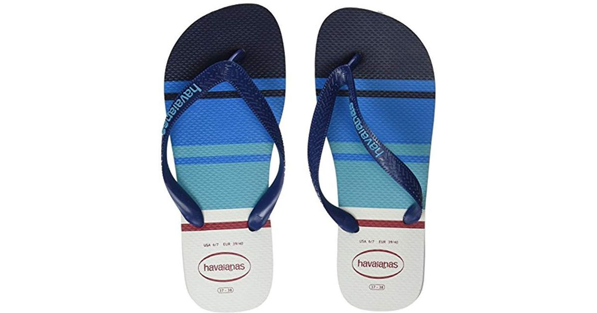 29842b1d25d Havaianas Printed Flip Flops Top Nautical in Blue for Men - Save 27% - Lyst