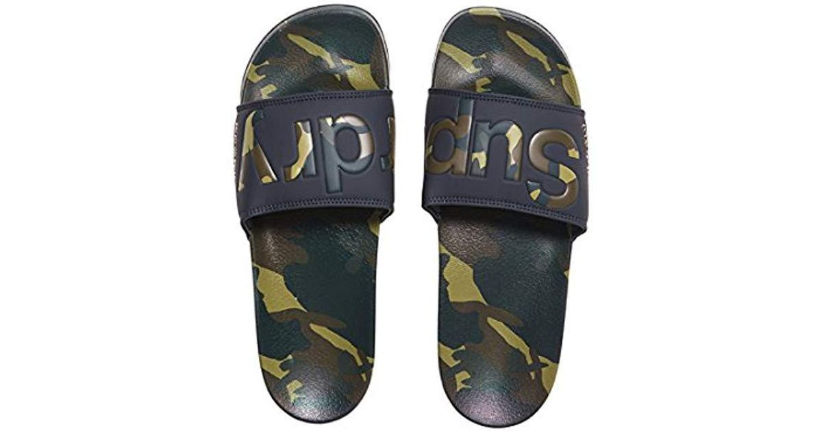 Aop Beach Flops Slide Blue For Superdry In Flip Lyst Men gdxAI5O
