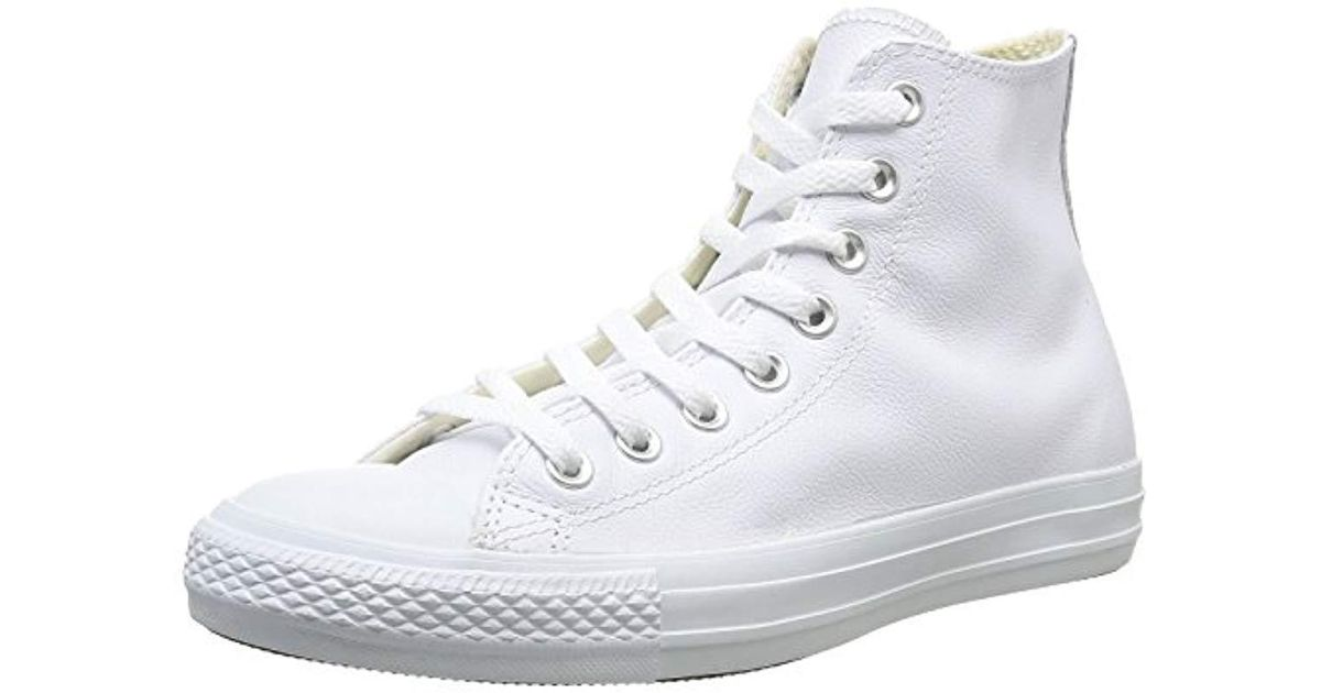 f9258c33b1fbe3 Converse Unisex-adult Chuck Taylor All Star Core Leather Hi-top Trainers in  White for Men - Lyst