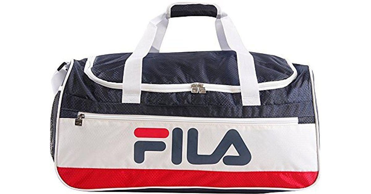 7e7ce5aa98 Fila - Blue Baywood Medium Sports Duffel Bag Gym Bag for Men - Lyst