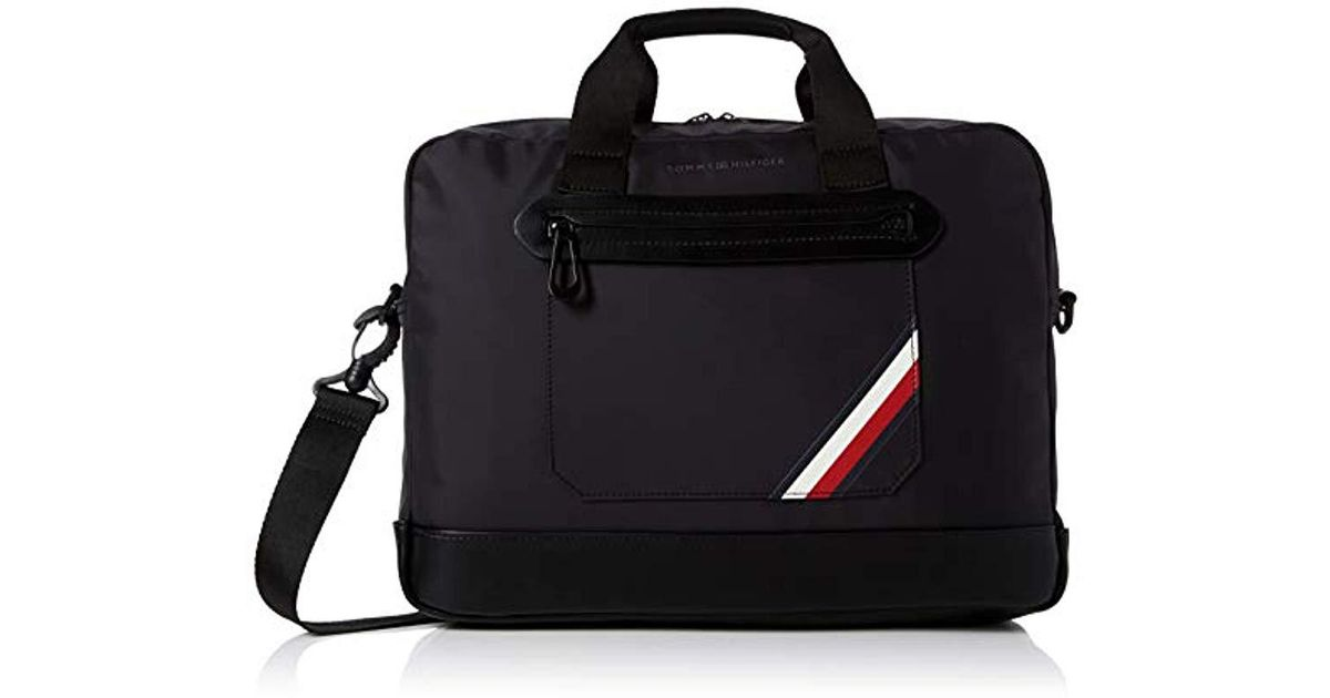 09254e0bdfa0c Tommy Hilfiger Easy Tape Lightweight Computer Bag in Black for Men - Lyst