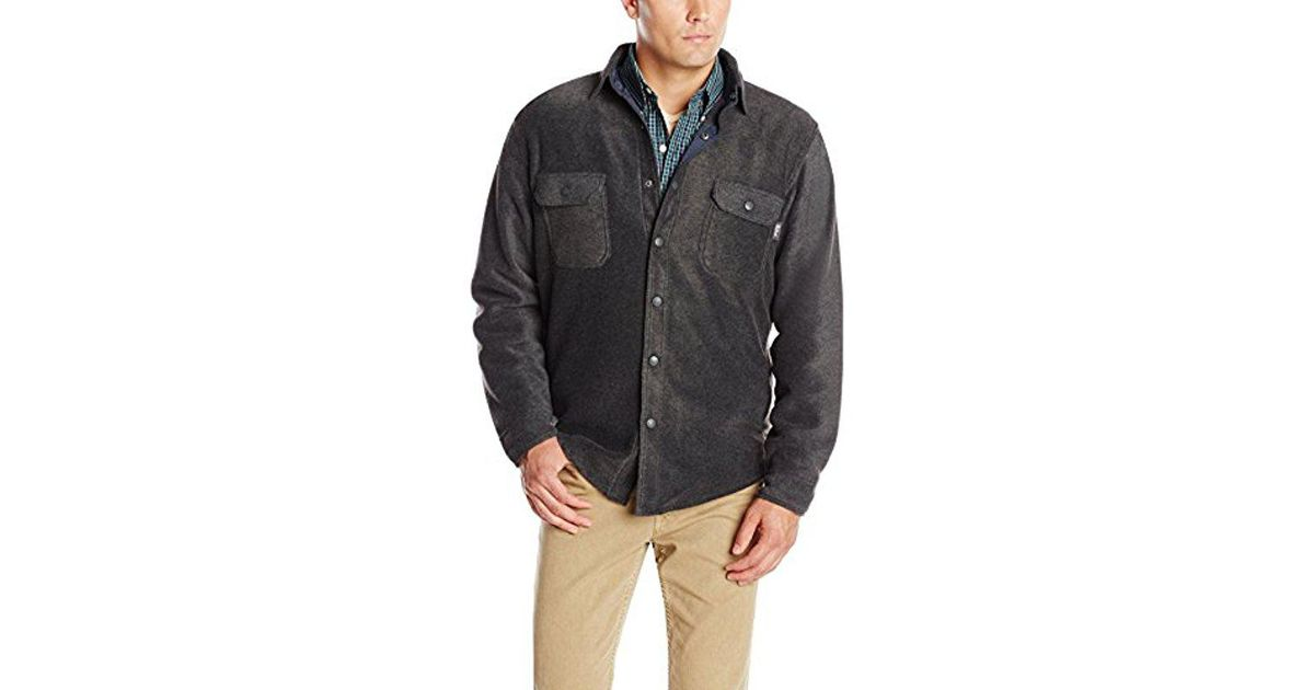 f5996fa5d68e8 Lyst - Woolrich Andes Fleece Shirt Jacket in Gray for Men