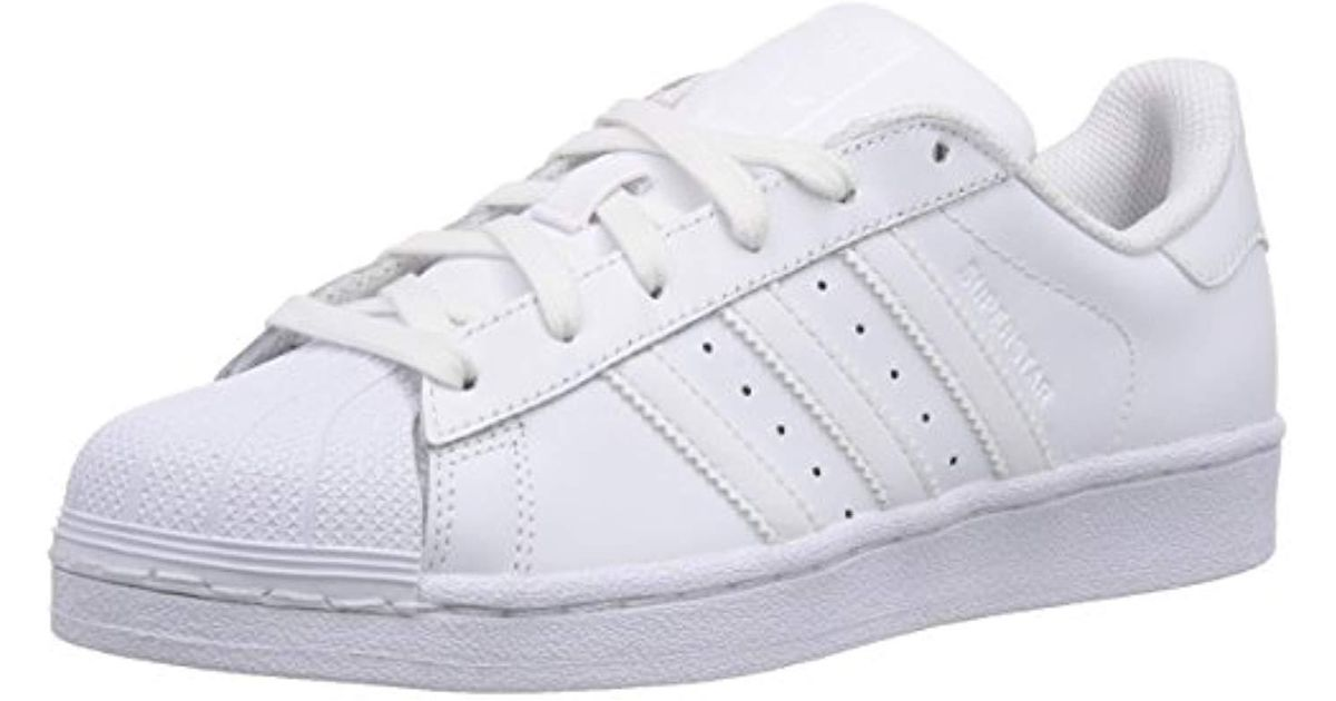 save off 8f80a 3a0bb ... norway adidas unisex adults superstar foundation trainer in white lyst  c30df 79464