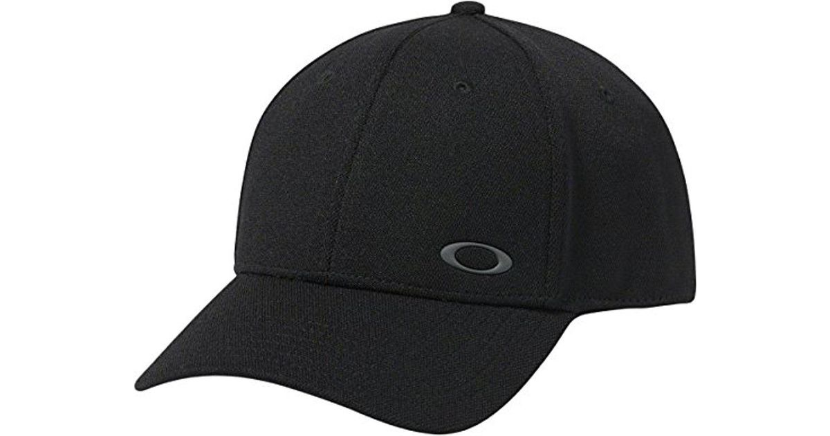 new product 0d157 0f54a Lyst - Oakley S Silicon Ellipse Flexfit Hat in Black for Men