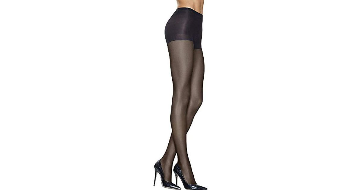 0d11ad7dd Hanes. Women s Black Silk Reflections High Waist Control Top Sandalfoot  Pantyhose