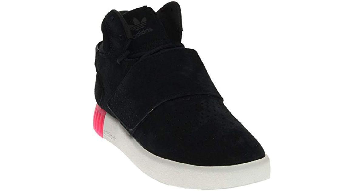 watch 24a62 8287d Lyst - Adidas Originals Tubular Invader Strap W Fashion Sneaker in Black  for Men