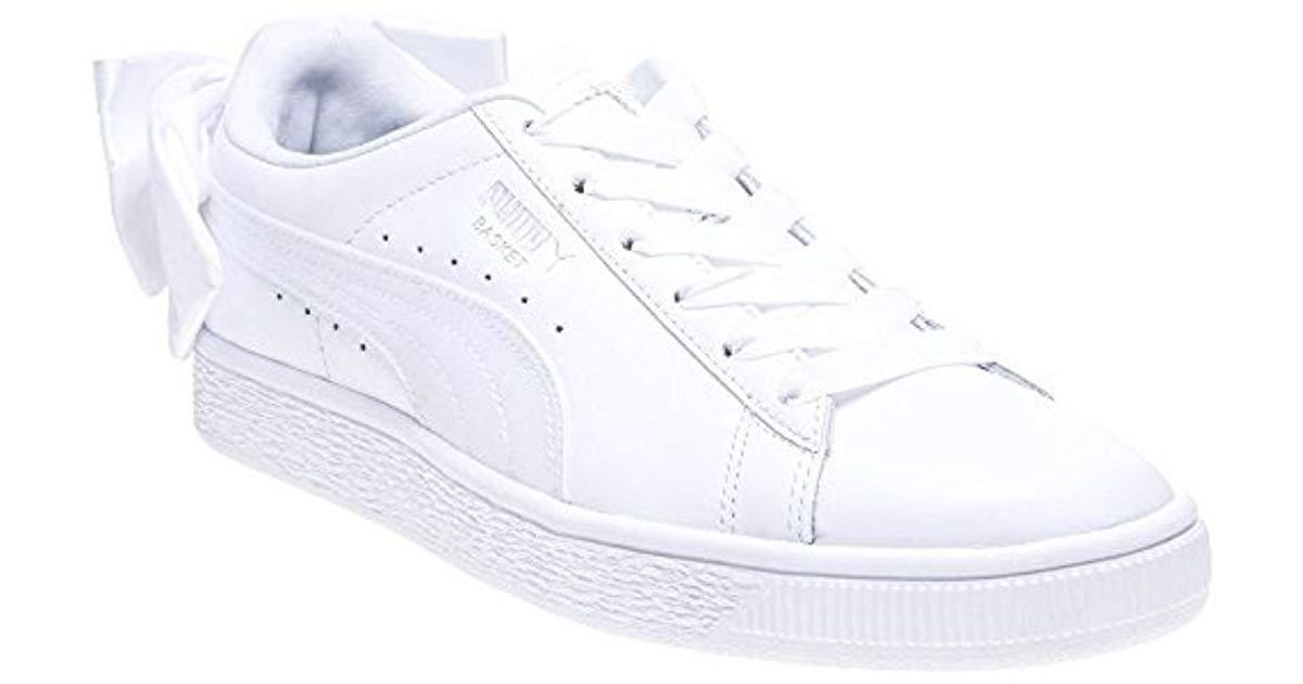 size 40 8bb31 3444c PUMA - White Basket Bow Wn's Trainers - Lyst