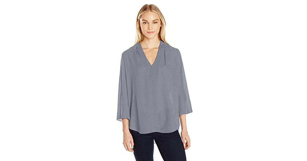 397fabcb4 Lyst - NYDJ Plus Size Origami Tunic in Gray