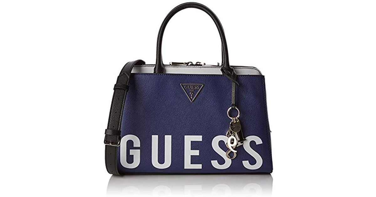 Guess Maddy Girlfriend Satchel Top-handle Bag in Blue - Lyst 01409c60accac