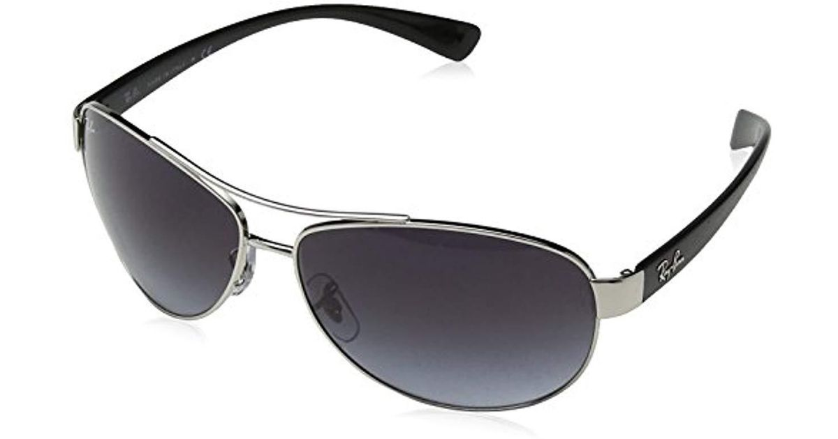 d1f51b5d51 Lyst - Ray-Ban Rb3386 - Silver Frame Grey Gradient Lenses 63mm Non-polarized  in Metallic for Men