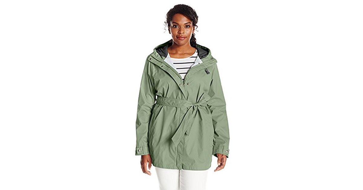 3cfd114fd0a Lyst - Columbia Plus-size Pardon My Trench Rain Jacket in Green