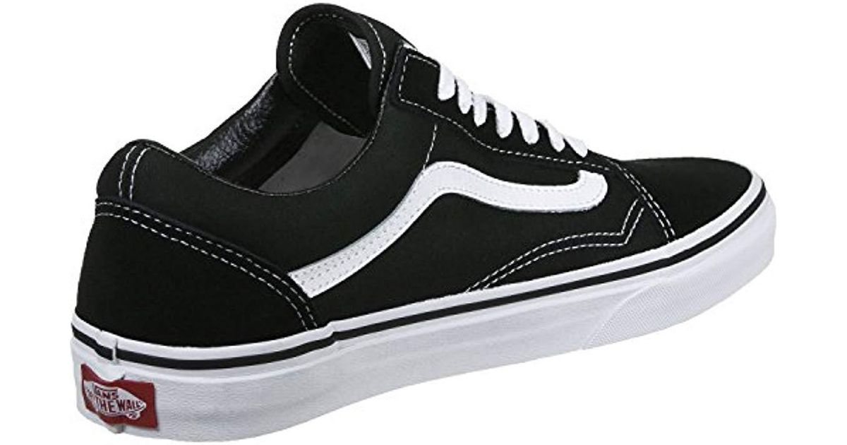 bfdcdd4f0aa1 Vans Unisex Adults Old Skool Classic Suede canvas Sneakers in Black for Men  - Lyst
