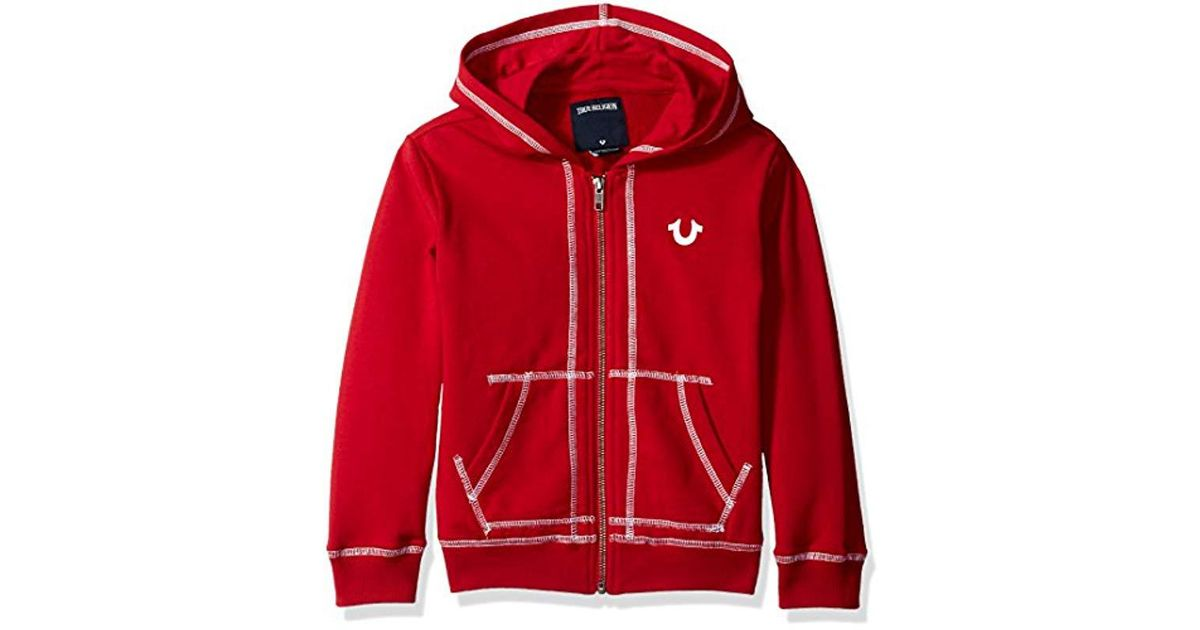 7e0232e04 True Religion Boys French Terry Hoody in Red for Men - Lyst