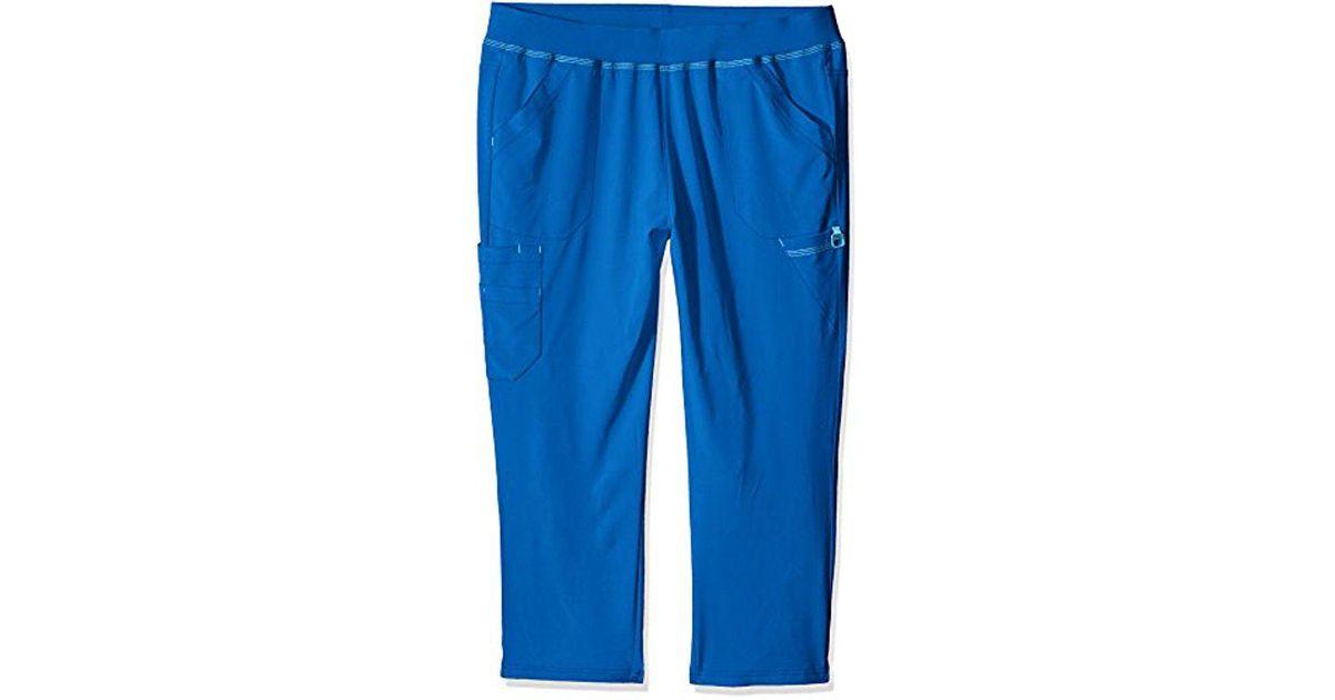 85987cde67b Carhartt Petite Plus Cross-flex Size Straight Leg Knit Waist Cargo Scrub  Pant in Blue - Lyst