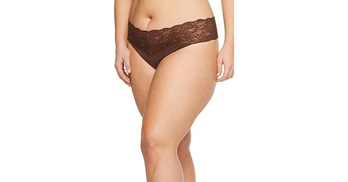 e5ec6856f7d Cosabella Plus-size Never Say Never Lovelie Thong Panty in Brown - Lyst