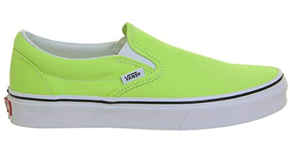 95240d3bfe Vans Unisex Adults  Classic Slip On in Green for Men - Lyst