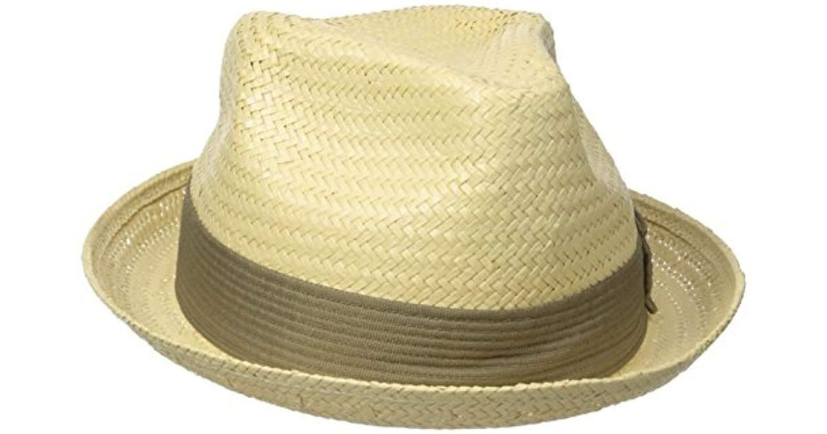 3073b9ad29b Lyst - Brixton Castor Straw Fedora Hat in Yellow for Men