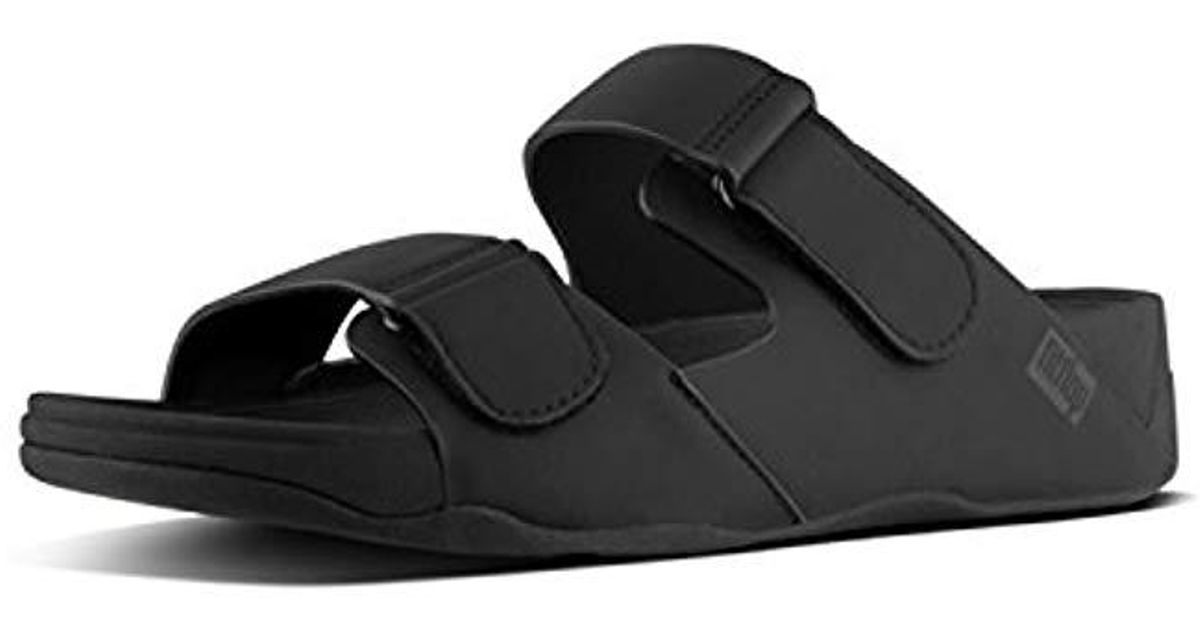 6cc0fe7dca377 Lyst - Fitflop Gogh Moc Adjustable Slide Sandals-neoprene in Black for Men