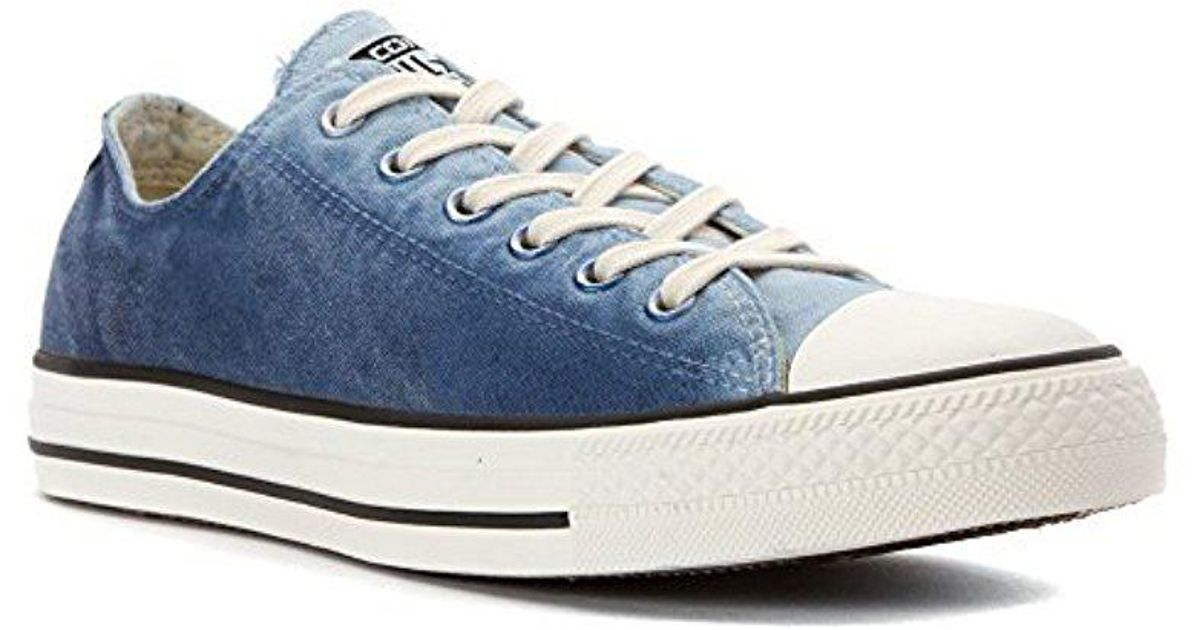 1ce448b31ba930 Lyst - Converse Unisex Chuck Taylor All Star Low Top Sneakers in Blue