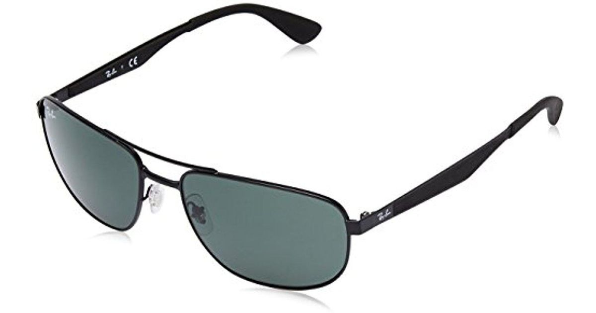21e9c21d0b3 Lyst - Ray-Ban Metal Man Sunglass - Matte Black Frame Green Lenses 58mm  Non-polarized in Black for Men