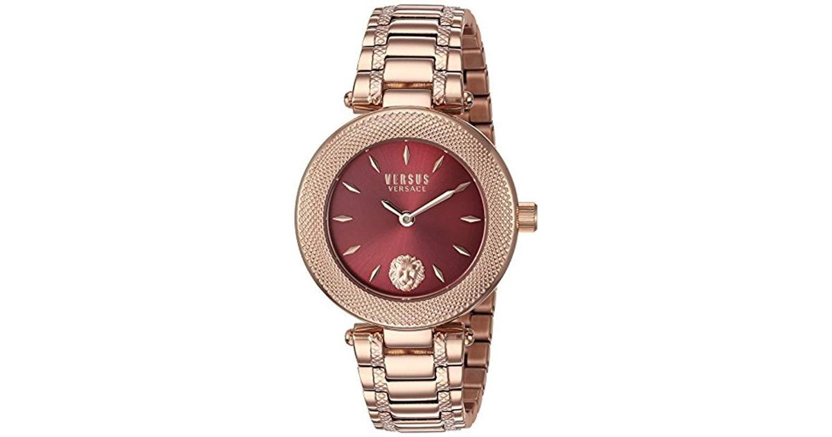 f399cc7b028b Lyst - Versus  brick Lane Ext  Quartz Stainless Steel And Gold Plated  Casual Watch(model  S71070016) in Red