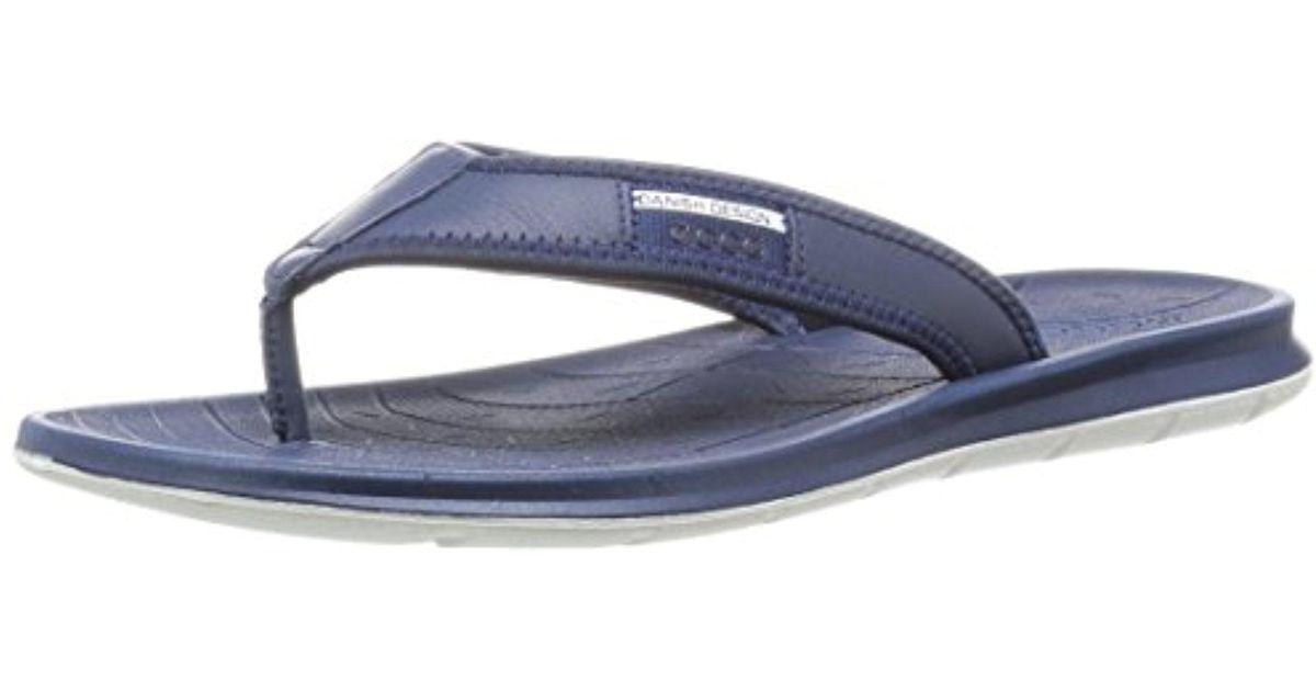 541fe5318b3e Lyst - Ecco Intrinsic Toffel Thong Sandal in Blue