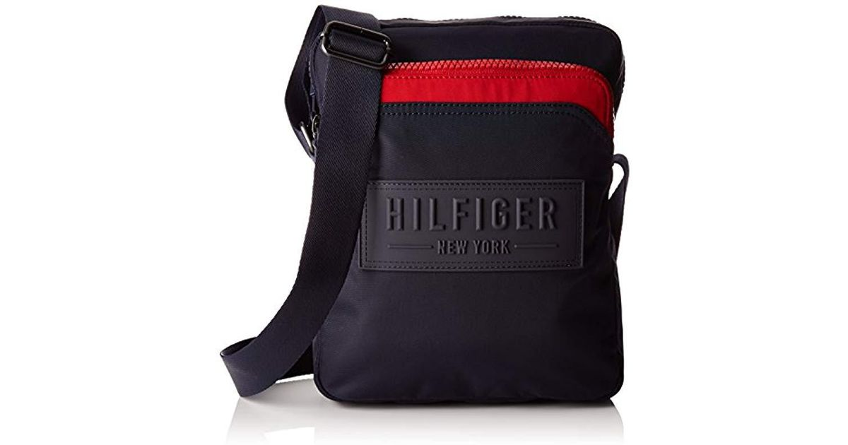 de5d6751e0 Tommy Hilfiger S City Nylon Slim Reporter Messenger Bag in Blue for Men -  Lyst