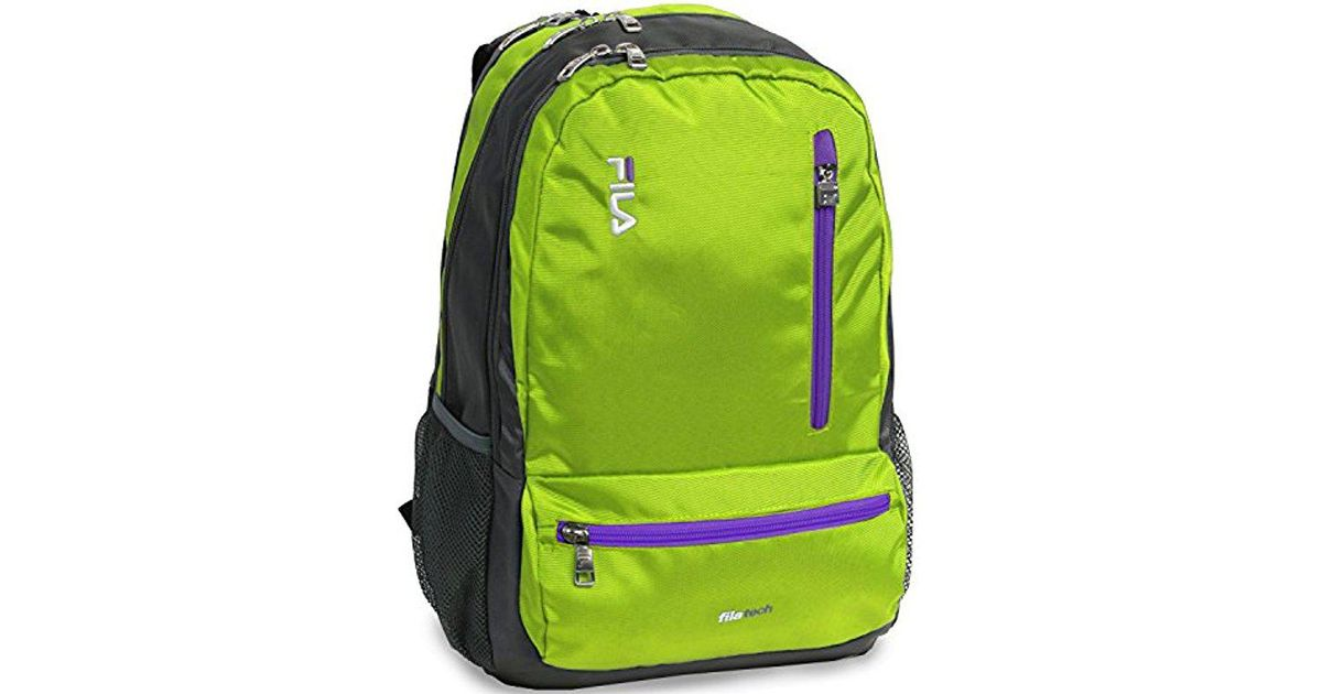 Lyst - Fila Nexus 5 Pocket School Laptop Tablet Backpack in Green for Men