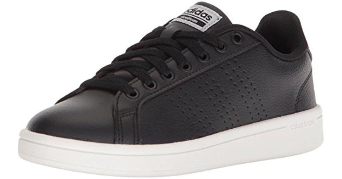 lyst adidas originali cloudfoam vantaggio pulito w scarpe da ginnastica in nero